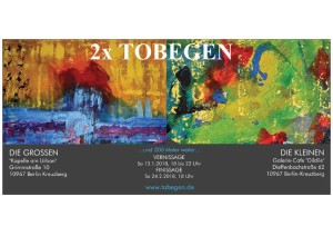 tobegen Doppelausstellung Flyer